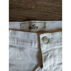 Hollister Shorts - White denim shorts size 3